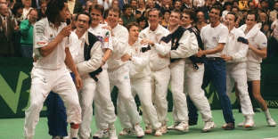 Emmenée par Yannick Noah, la France s'était imposée face aux Etats-Unis en 1991, à Lyon.