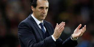 L'entraîneur espagnol Unai Emery, le 22 novembre, lors de la large victoire (7-1) du PSG contre le Celtic Glasgow.