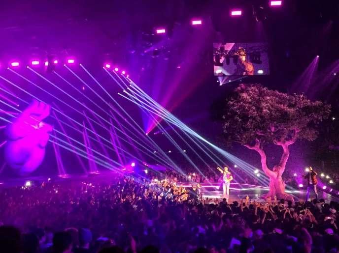 Le groupe PNL en concert à l'AccorHotels Arena à Paris, le 22 novembre.