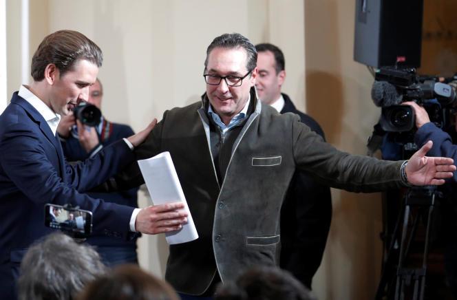 Sebastian Kurz et Heinz-Christian Strache, le 23 novembre à Vienne.
