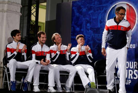 Yannick Noah a choisi de sélectionner Lucas Pouille, Jo-Wilfried Tsonga, Richard Gasquet et Pierre-Hugues Herbert pour la finale.