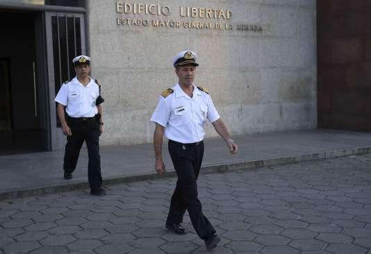 Le porte-parole de la Marine argentine, Enrique Balbi, a tenu une conférence de presse mercredi 22 novembre à Buenos Aires.
