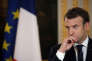 Le président Emmanuel Macron à l'Elysée le 23 novembre(Philippe Wojazer, Pool via AP)