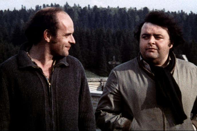 Le réalisateur Jean-François Stévenin (à gauche) avec Jacques Villeret dans son film«Passe Montagne» (1978).