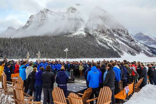 Hommage à David Poisson le 22 novembre à Lake Louise.