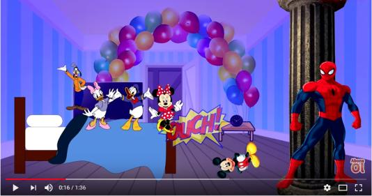 Extrait d'une vidéo parodique de dessin animé sur YouTube.