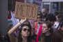 Manifestation contre le harcèlement sexuel, à Los Angeles, le 12 novembre.