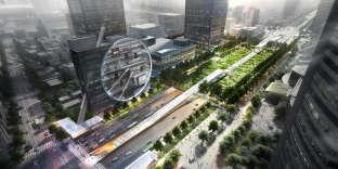 A Séoul, l'architecte Dominique Perrault va réaliser un complexe souterrain éclairé par un chemin de verre et de cristal.
