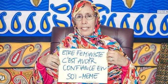 Aminetou Mint El Moctar est présidente del'Association des femmes chefs de famille en Mauritanie.