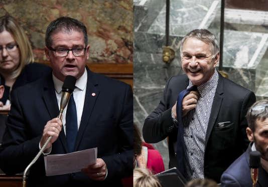 Le député LRM de la Manche Bertrand Sorre (à gauche) a recruté la fille du député LRM de l'Hérault Patrick Vignal (à droite).