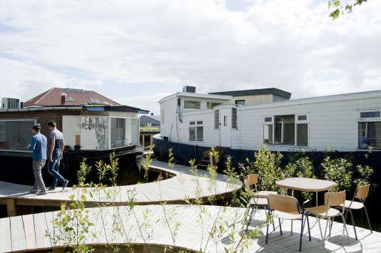 De Ceuvel, une communauté d'entrepreneurs à Amsterdam.