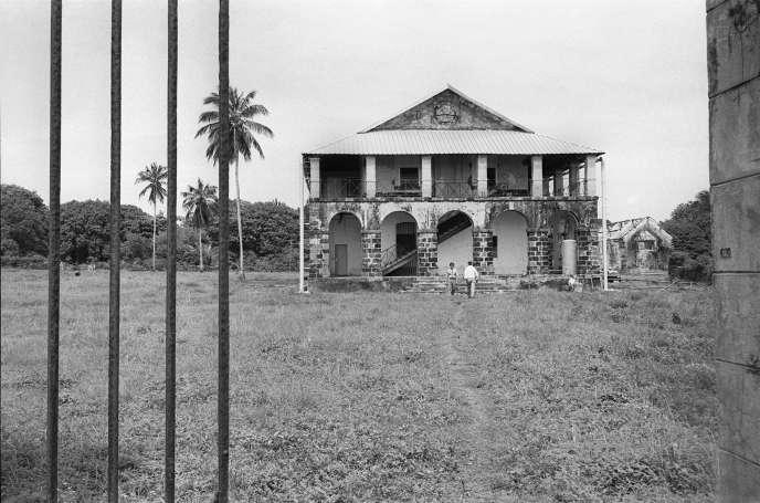 Le bagne de Cayenne où les condamnés étaient soumis aux travaux forcés fut fermé en 1942 (photo non datée).