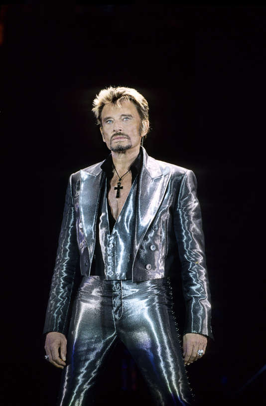 Johnny Halliday en concert au Parc des princes, en 2003.
