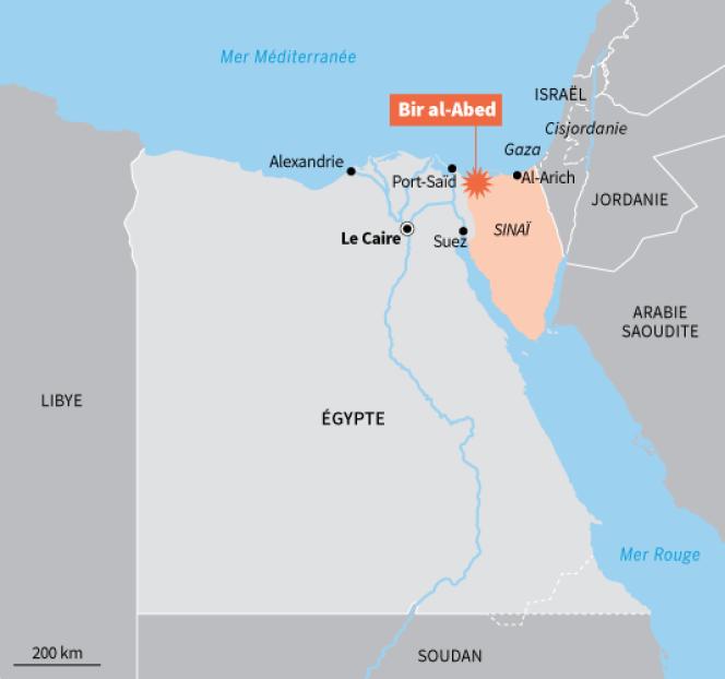 Carte de situation de l'attentat du 24 novembre.