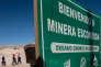Grève à la mine de cuivre d'Escondida, au Chili, le 8 mars.