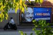 Affiche annonçant la consultation de la population sur les activités de George Soros, à Budapest, le 2 octobre.