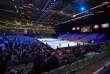 Vue générale du stade Pierre-Mauroy lors du premier match de la finale de Coupe Davis, entre Lucas Pouille et David Goffin.