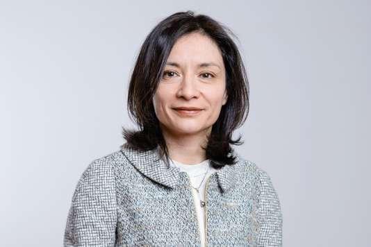 Delphine Gény-Stephann photographiée en 2016 lorsqu'elle était vice-présidente du plan et de la stratégie du groupe industriel Saint-Gobain.