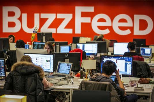 La rédaction américaine de BuzzFeed, à New York, en janvier 2014.