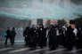 Des manifestants ultra-orthodoxes dispersés par les canons à eau de la police, à Jérusalem, le 26 novembre.