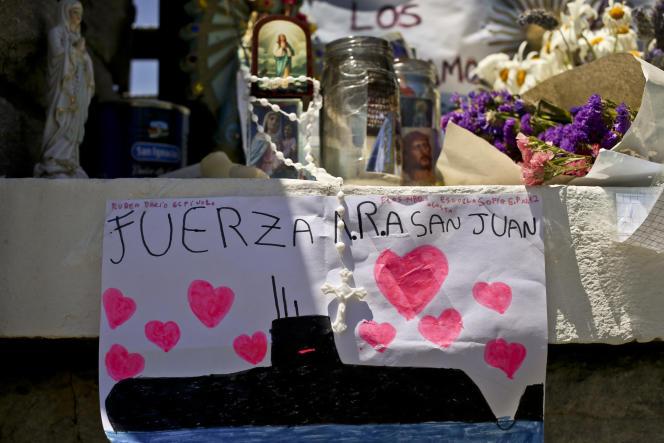 Hommage aux disparus du sous-marin «San-Juan», le 26 novembre à Mar de Plata, son port d'attache.