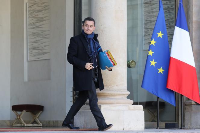 Le ministre de l'action et des comptes publics, Gérald Darmanin au palais de l'Elysée, le 22novembre.