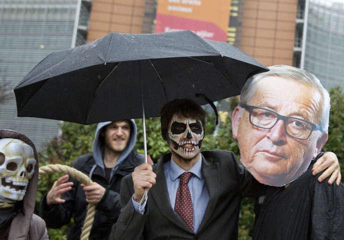 Manifestation contre le glyphosate, à Bruxelles, le 27 novembre.