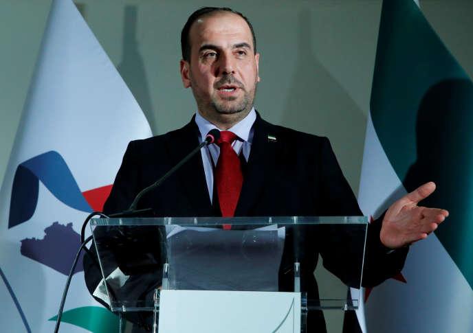 Nasser Al-Hariri, chef du Comité des négociations et membre de la Coalition nationale syrienne.