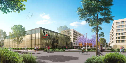 «Le chantier (estimé à 30 millions d'euros) est vaste : des salles de cours, des terrains de basket, avec une grande salle pour l'entraînement du club de basket de Lyon-Villeurbanne, l'Asvel, et un mini-campus étudiant. Trois bâtiments de six étages d'une capacité de 400 logements étudiants sont aussi prévus : 100 seront en PLS (prêt locatif social) et 300 destinés à des investisseurs privés.»