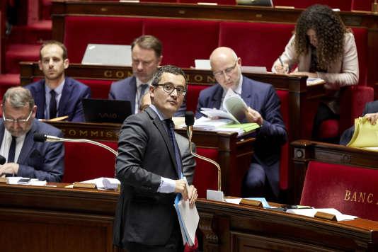 Gérard Darmanin, ministre de l'action et des comptes publics, à l'Assemblée nationale, le 21 octobre.