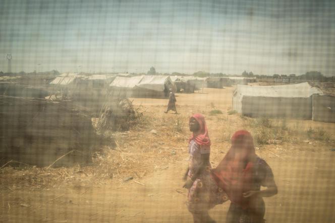A Gaoui, un camp de réfugiés situé à la périphérie de N'Djamena.