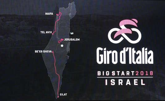 Le parcours des trois étapes du Giro 2018 en Israël.
