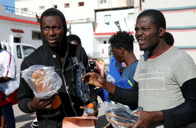 Dans un centre de détention de migrants, à Tripoli, le 28 novembre.