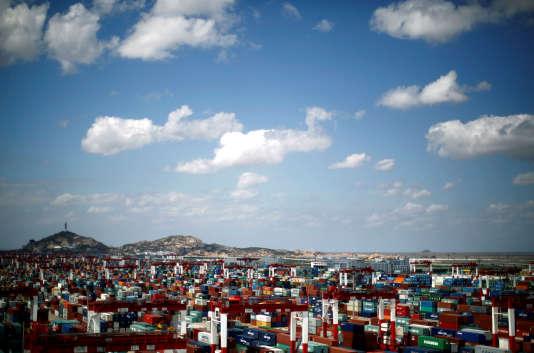 Le port de Yangshan dans la zone de libre-échange de Shanghaï en Chine, en 2013.