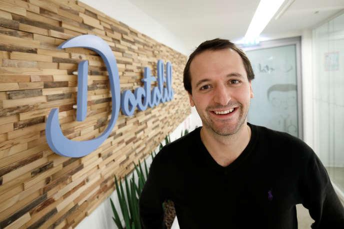 Stanislas Niox-Chateau, CEO et cofondateur de Doctolib, le 27 novembre, dans les locaux de la société, à Paris.