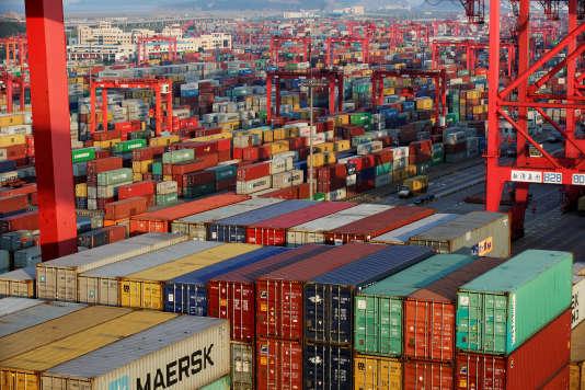 Le port de Yangshan dans la zone de libre-échange de Shanghaï, le 24 septembre 2016.