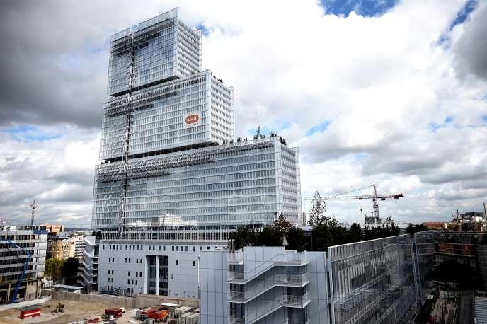 Le nouveau bâtiment du Tribunal de Paris, porte de Clichy, dans le 17e arrondissement, en octobre 2017.
