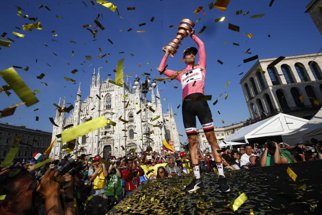 Le Néerlandais Tom Dumoulin, vainqueur l'an dernier à Milan, n'a pas encore annoncé s'il disputerait le Giro2018.