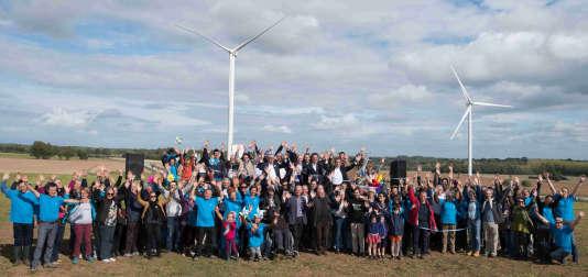 Inauguration du parc éolien public et citoyen d'Avessac à Tesdan (Ille-et-Vilaine).