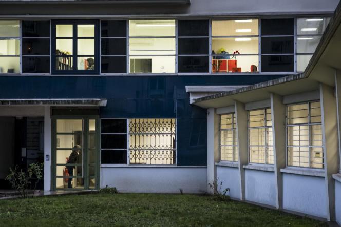 Vue du nouveau centre d'accueil pour mineurs non accompagnés de MSF qui ouvrira ses portes le 5 décembre 2017 à Pantin.