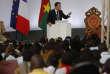 Le président français Emmanuel Macron, lors de son discours à l'université de Ouagadougou au Burkina Faso, le 28 novembre.