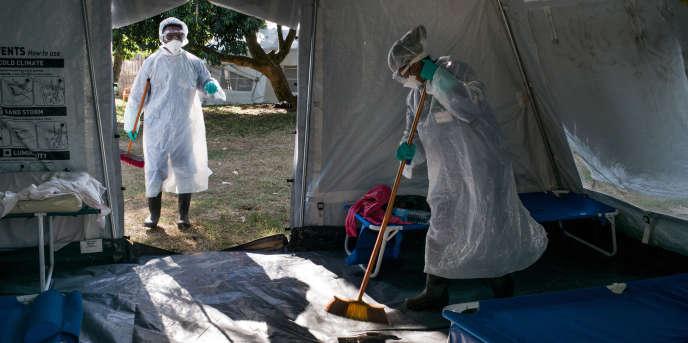Dans un centre de traitement de la peste à Toamasina, à Madagascar, le 20octobre 2017.