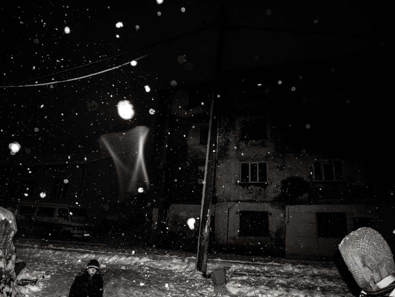 Scène d'hiver à Bulqizë (est de l'Albanie). Décembre2014.