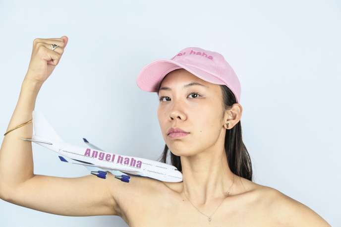 Qinmin Liu, la créatrice de lacompagnie Angelhaha Airline.