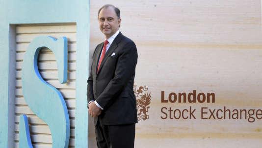 Xavier Rolet, patron du London Stock Exchange, en 2010, à Londres.