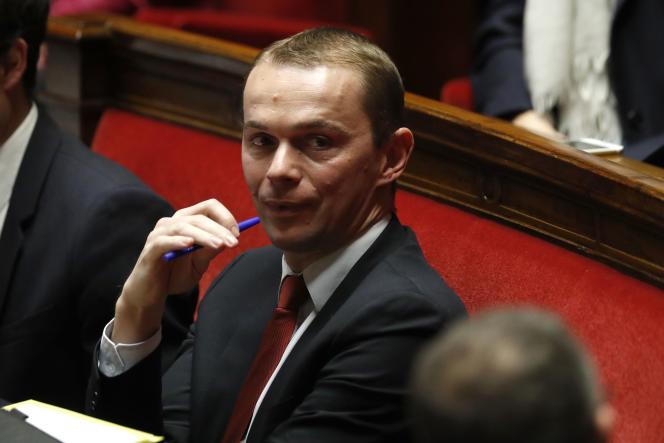 Le secrétaire d'Etat à la fonction publique Olivier Dussopt à l'Assemblée.