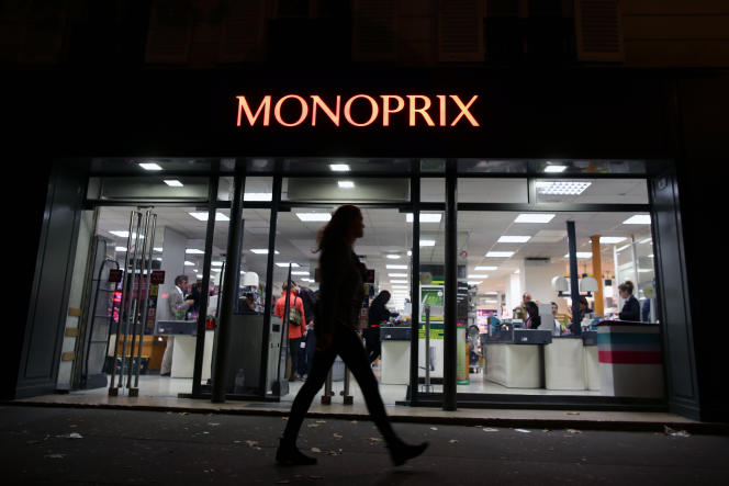 Un magasin Monoprix à Paris, en octobre 2013.