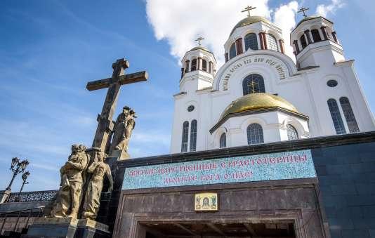 La cathédrale d'Ekaterinbourg, en Russie, construite à l'endroit exact où la famille Romanov a été exécutée en 1918.