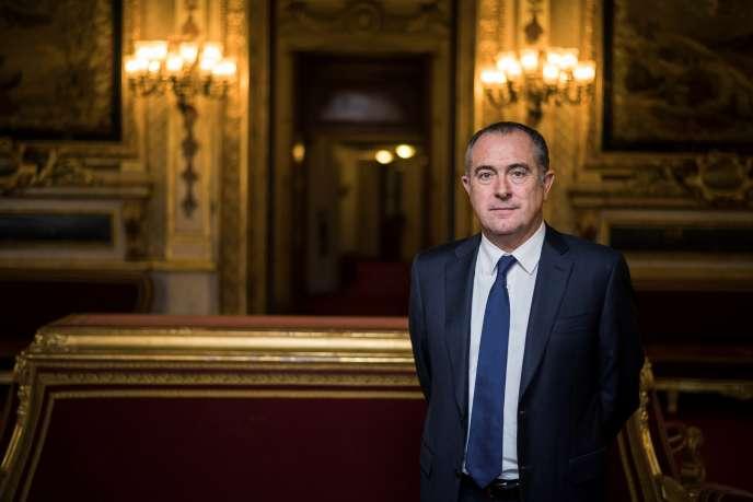 Le président du groupe socialiste au Sénat, Didier Guillaume, le 15 novembre 2016 au palais du Luxembourg, à Paris.