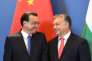 Le premier ministre chinois Li Keqiang et son homologue hongrois Viktor Orban, à Budapest, le 28 novembre.